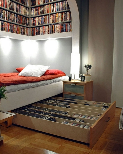 Book shelves and beds booksaremyfavouriteandbest How to store books in a small bedroom