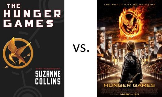 book vs film The Hunger Games